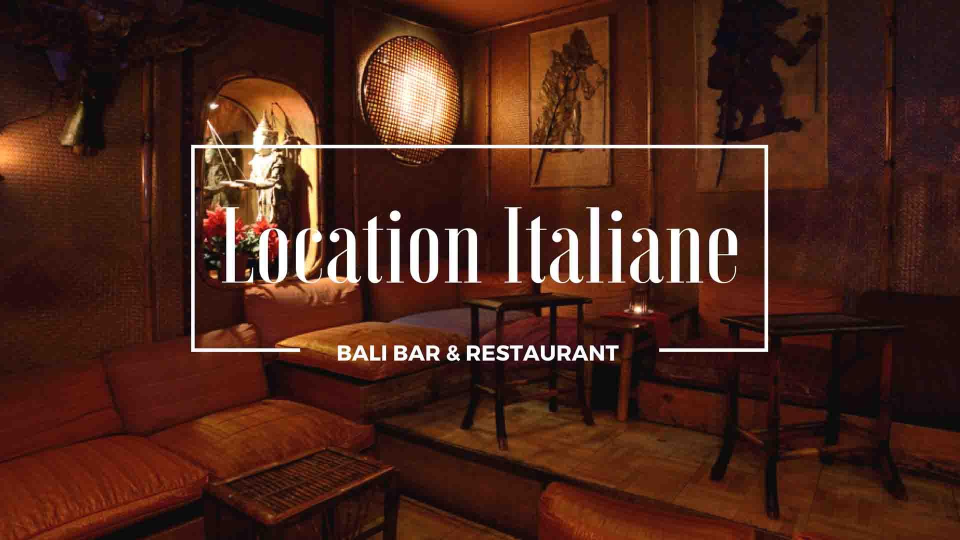 Bali Bar & Restaurant ristorante indonesiano Roma